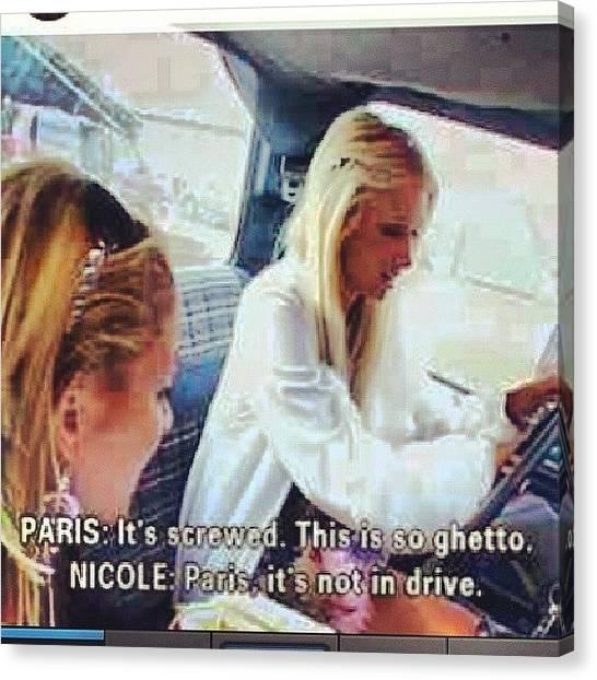 Foxes Canvas Print - Paris Hilton And Nicole Richie Lmao by Brandon Fisher