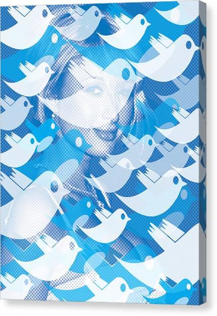 Dada Art Canvas Print - Paris Hilton Twitter by Tony Rubino