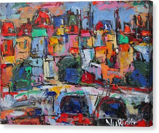 Paris In Colors Canvas Print