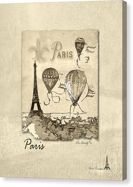 Paris In Sepia Canvas Print