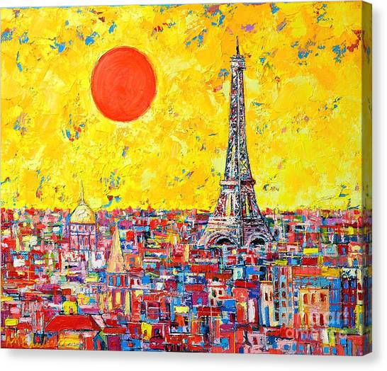 Paris In Sunlight Canvas Print