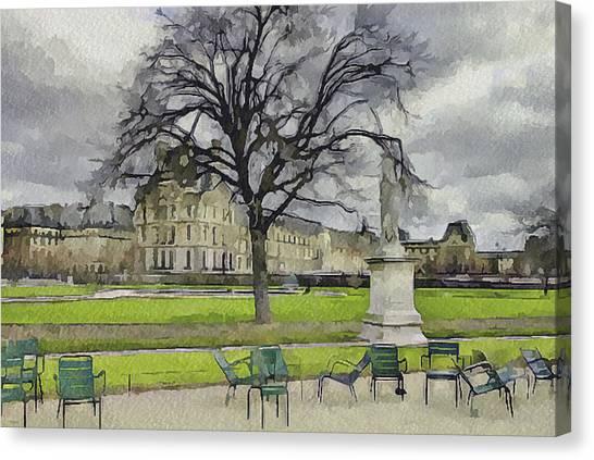 Paris Louvre 1 Canvas Print by Yury Malkov