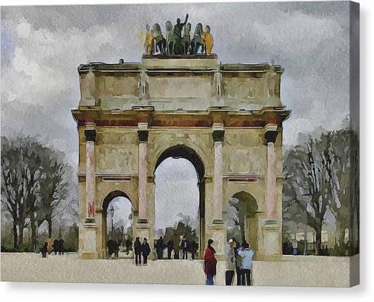 Paris Louvre 4 Canvas Print by Yury Malkov