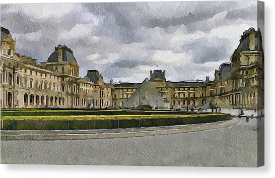 Paris Louvre 5 Canvas Print by Yury Malkov