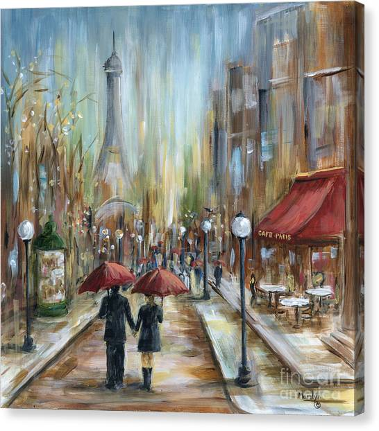 Eiffel Tower Canvas Print - Paris Lovers Ill by Marilyn Dunlap