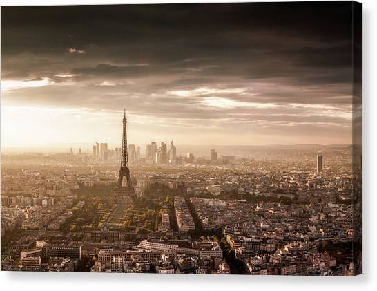 Eiffel Tower Canvas Print - Paris Magnificence by Jaco Marx