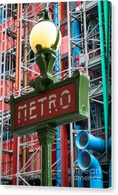 Europa Canvas Print - Paris Metro by Inge Johnsson