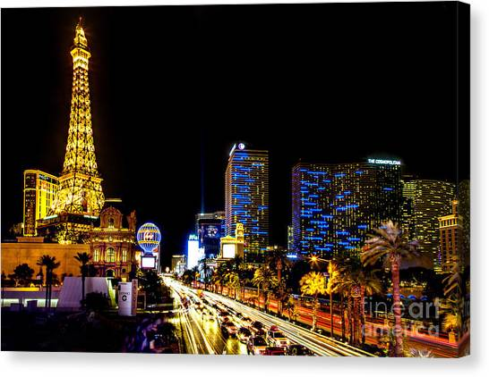 Traffic Canvas Print - Welcome To Vegas by Az Jackson