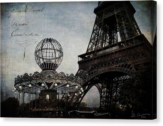 Paris One More Ride Canvas Print
