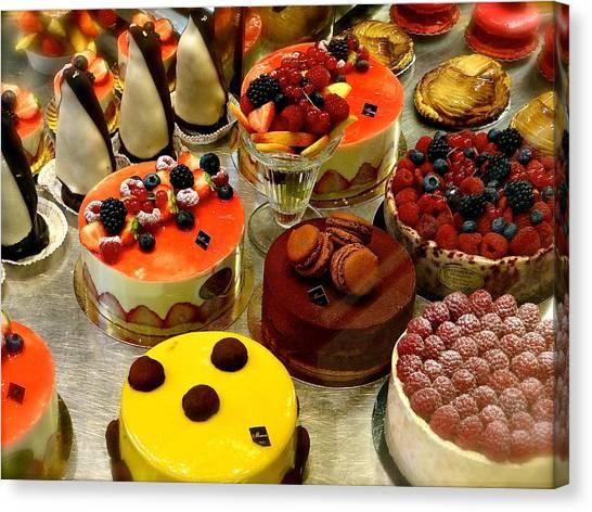 Paris Pastry Pause Canvas Print