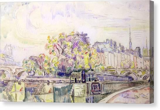 Signac Canvas Print - Paris by Paul Signac