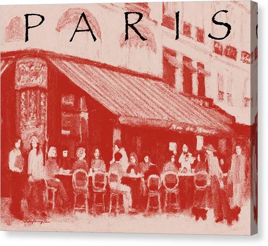 Paris Poster 2 Canvas Print