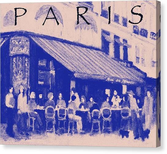 Paris Poster 3 Canvas Print