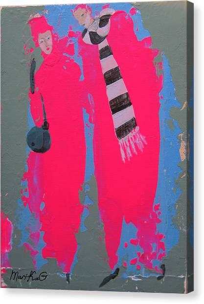 Paris Promenade Canvas Print