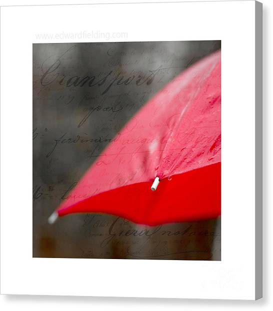 French Signs Canvas Print - Paris Rains Original Signed Mini by Edward Fielding