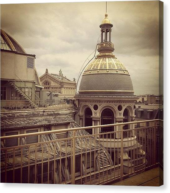 European Canvas Print - Paris Rooftops by Heidi Hermes
