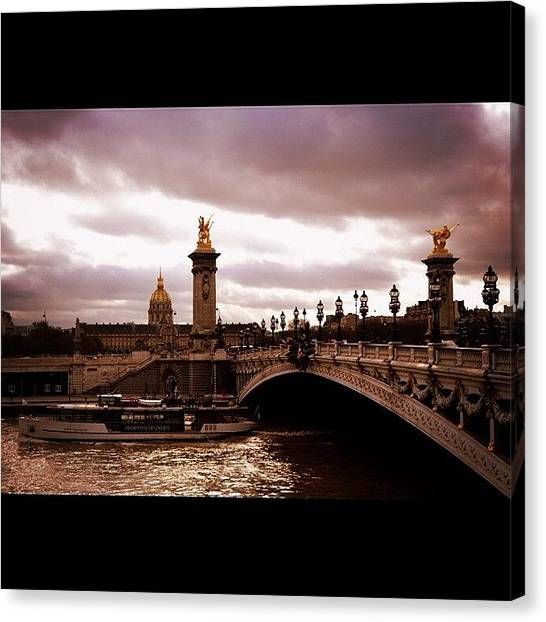 Paris Canvas Print - #paris #seine #france #pontalexandre by Ozan Goren