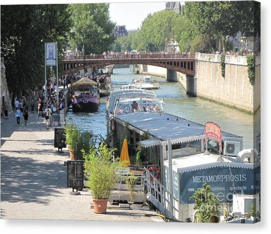Paris - Seine Scene Canvas Print