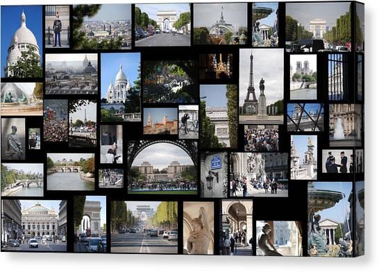 Le Louvre Canvas Print - Paris Special By Cartier by Francois Cartier