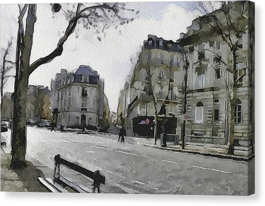 Paris Streets 1 Canvas Print by Yury Malkov