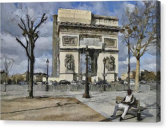 Paris Streets 2 Canvas Print by Yury Malkov