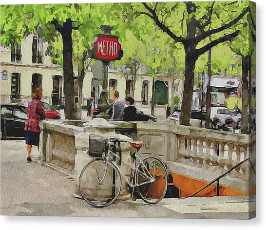 Paris Streets 5 Canvas Print by Yury Malkov