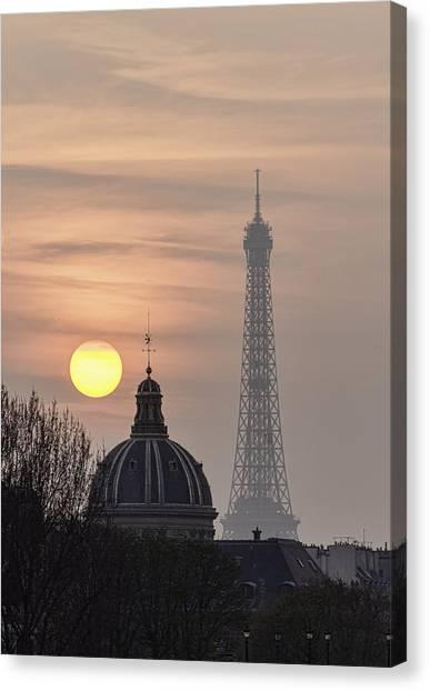 Paris Sunset I Canvas Print