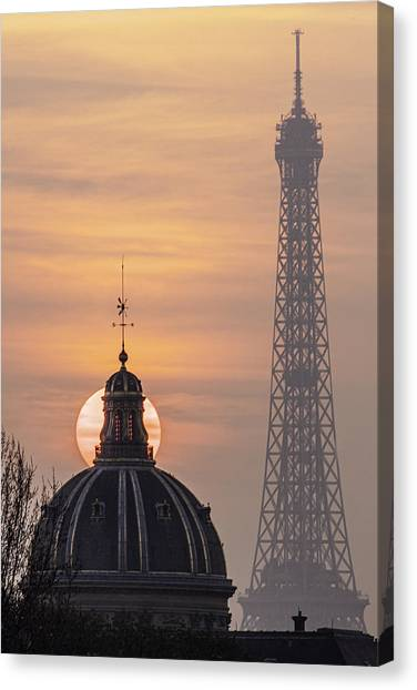 Paris Sunset IIi Canvas Print