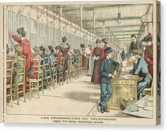 Demoiselles Canvas Print - Paris Telephone Exchange  'les by Mary Evans Picture Library