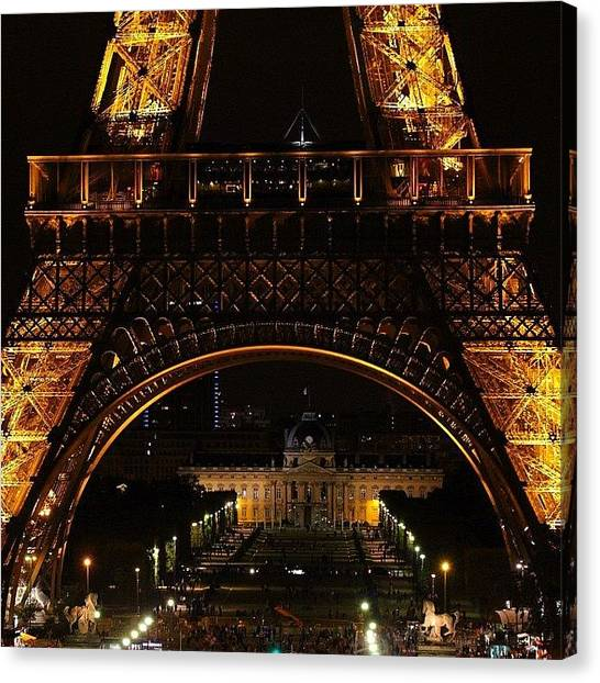 France Canvas Print - #paris #toureiffel #france #night by Luisa Azzolini