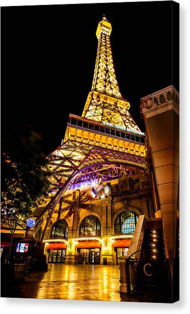 Traffic Canvas Print - Paris Under The Tower by Az Jackson