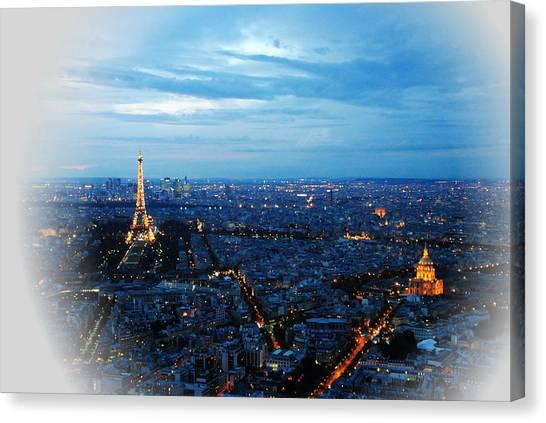 Paris View From Tour Montparnasse Canvas Print by Jacqueline M Lewis