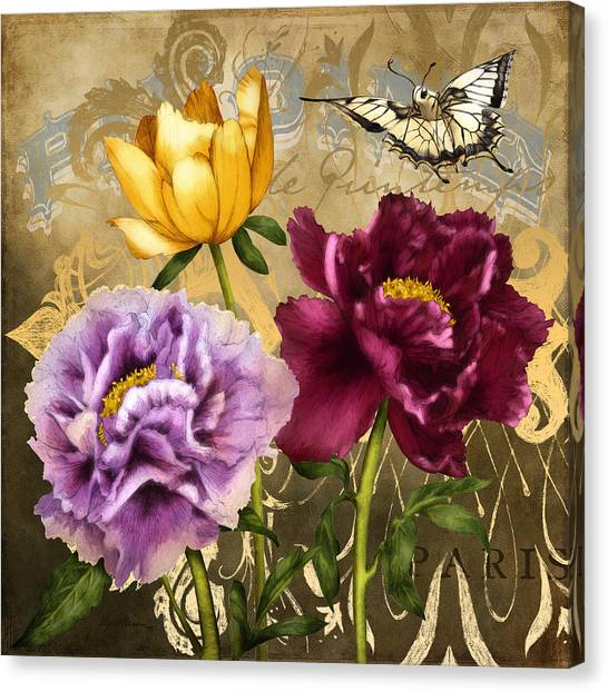 Parisian Peonies Canvas Print