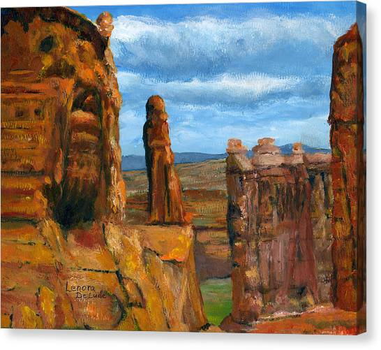 Park Avenue Arches National Park Canvas Print