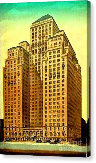 Park Central Hotel In New York City Canvas Print by Dwight Goss