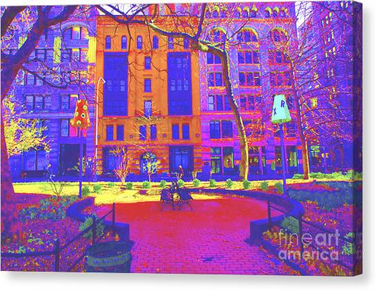 New York University Canvas Print - Park In The City by Dan Hilsenrath