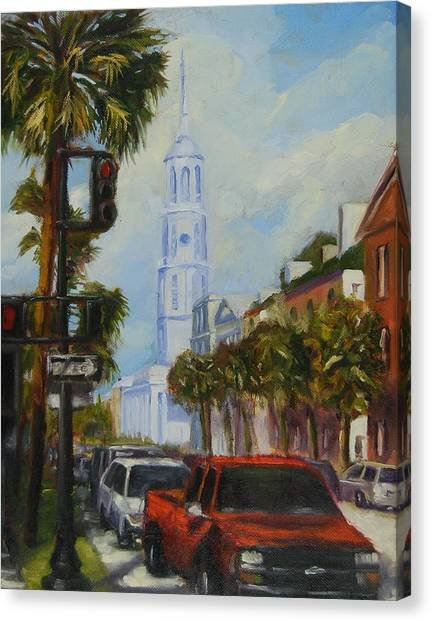 Parked In Charleston Canvas Print