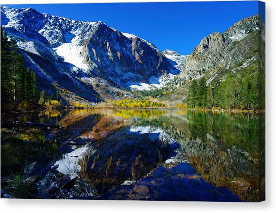 Ansel Adams Canvas Print - Parker Lake California In Fall by Scott McGuire