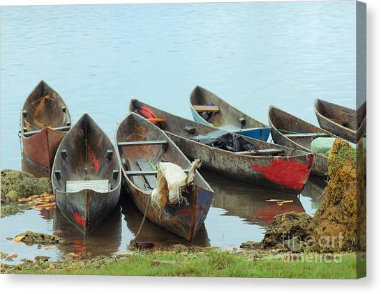 Parking Boats Canvas Print