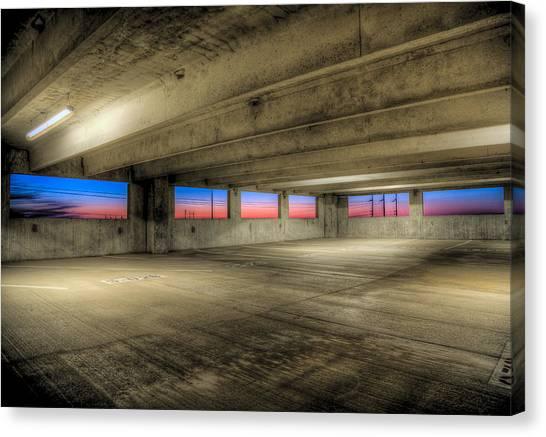 Parking Deck Sunset Canvas Print