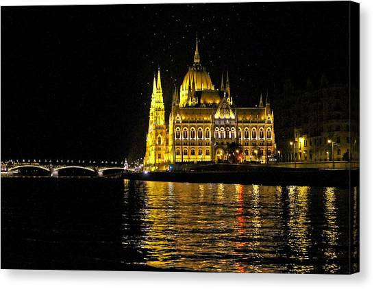 Parliament At Night Canvas Print