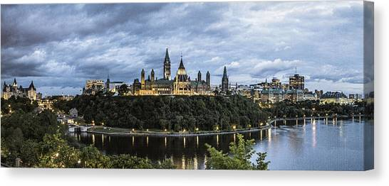 Parliament Hill At Night Canvas Print