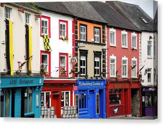 Parliament Street Kilkenny Ireland Canvas Print by Timothy O'keefe