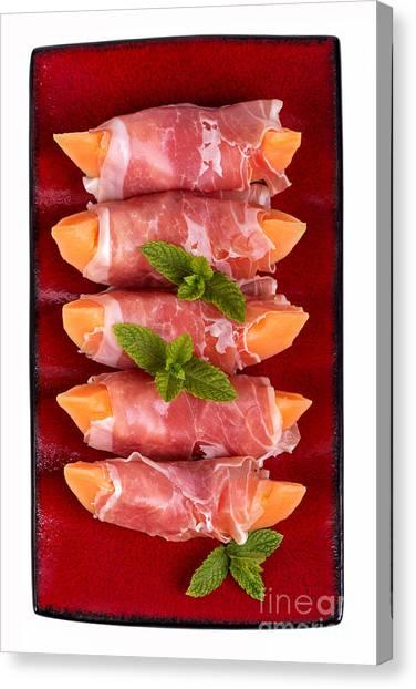 Ham Canvas Print - Parma Ham And Melon by Jane Rix