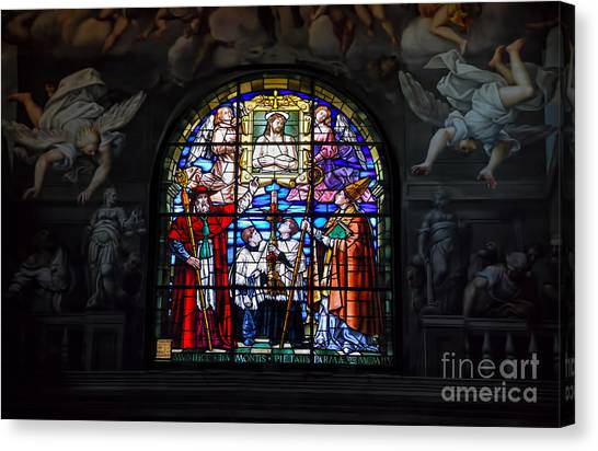Parma West Window Canvas Print