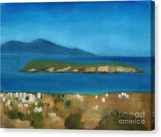 Paros Plain Air Canvas Print by Kostas Koutsoukanidis