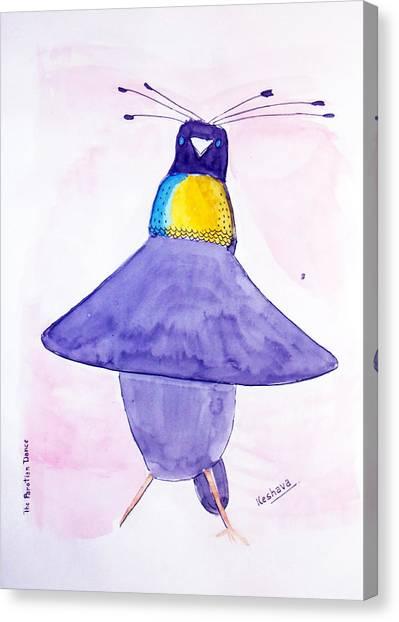 Parotia Dancing - Bird Of Paradise Canvas Print