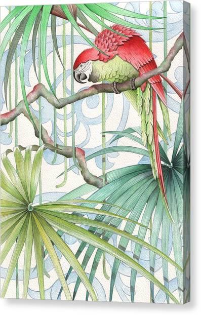 Macaws Canvas Print - Parrot, 2008 by Jenny Barnard