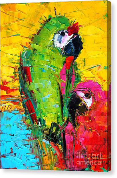 Parrot Lovers Canvas Print