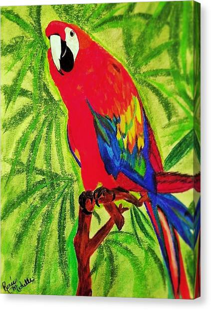 Parrot In Paradise Canvas Print